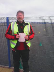 Steve Beverley passing Mod 1 Test with Pit-Stop Training
